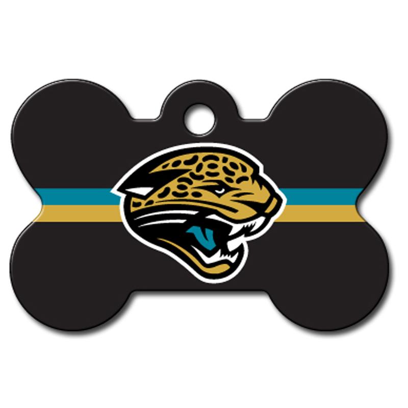 Jacksonville Jaguars Engravable Pet I.D. Tag - Bone