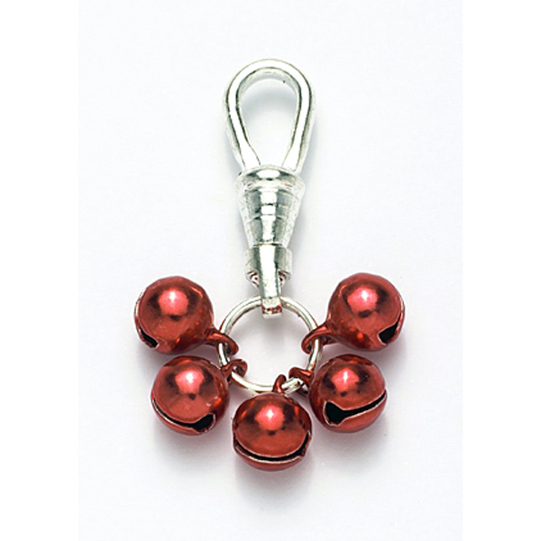Jingle Bell Tiny Red Dog Collar Charms or Cat Collar Charm