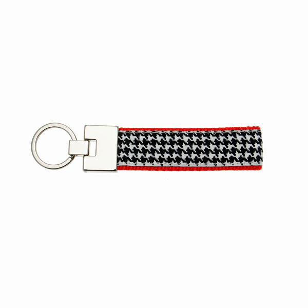 Up Country Key Ring - Classic Black Houndstooth