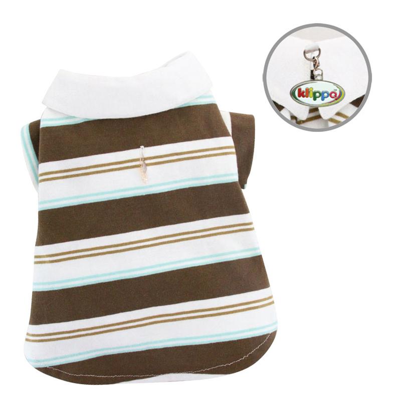 Earthy Stripes Polo Dog Shirt by Klippo