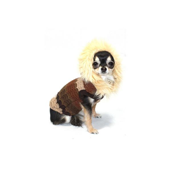Knit Fuzzy Designer Dog Sweater by Hip Doggie