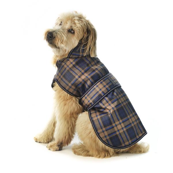 Kodiak Dog Coat - Blue Plaid