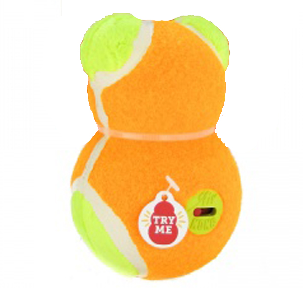 KONG OFF/ON Squeaker Dog Toy Bear - Orange Bear