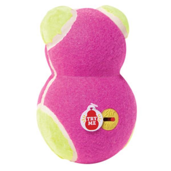 KONG OFF/ON Squeaker Dog Toy Bear - Pink Bear