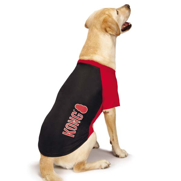 KONG SPF40 Raglan Dog T-Shirt - Black