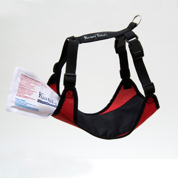 Kumfy Tailz Cools & Warms Mesh Dog Harness - Red