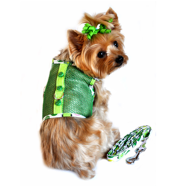 Lady Bug Cool Mesh Dog Harness by Doggie Design - Green