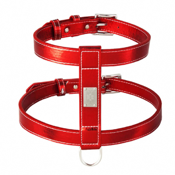 Lazybonezz Classic Dog Harness - Red