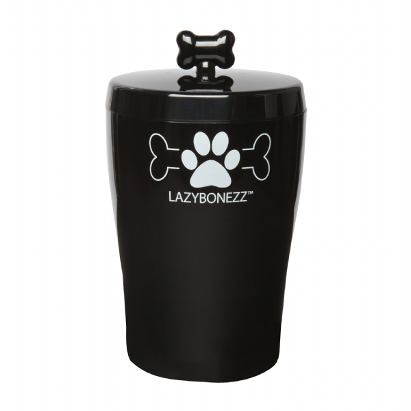 Lazybonezz Sleek Dog Treat Jar - Black