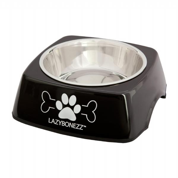 Lazybonezz Sleek Feeding Dog Dish - Black