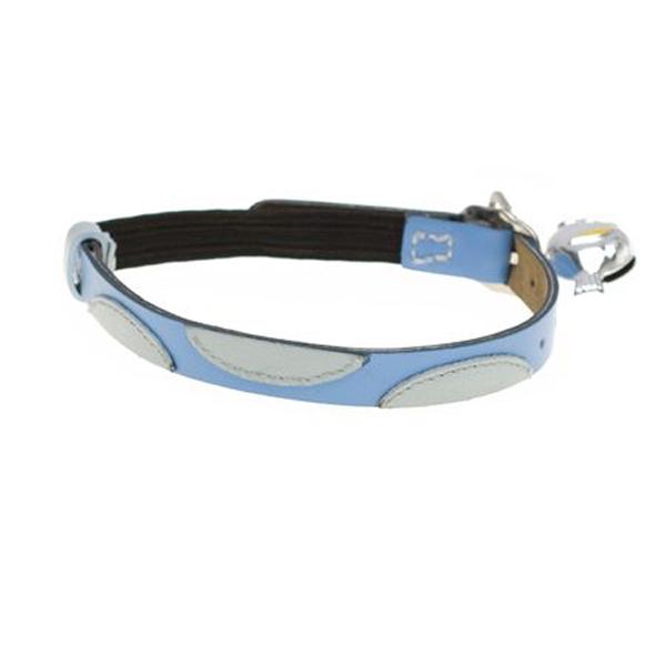 Leather Cat Collar - JoJo Blue