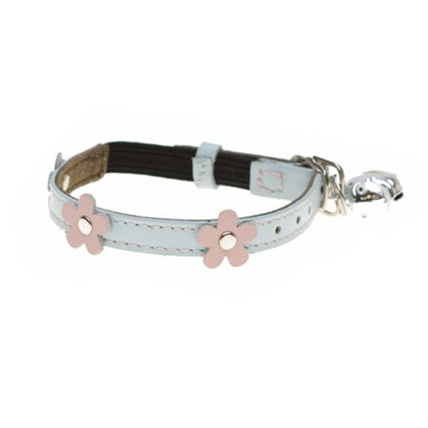 Leather Cat Collar - Lucy Blue