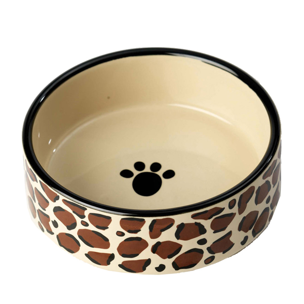 Leopard Buzz Dog Bowl