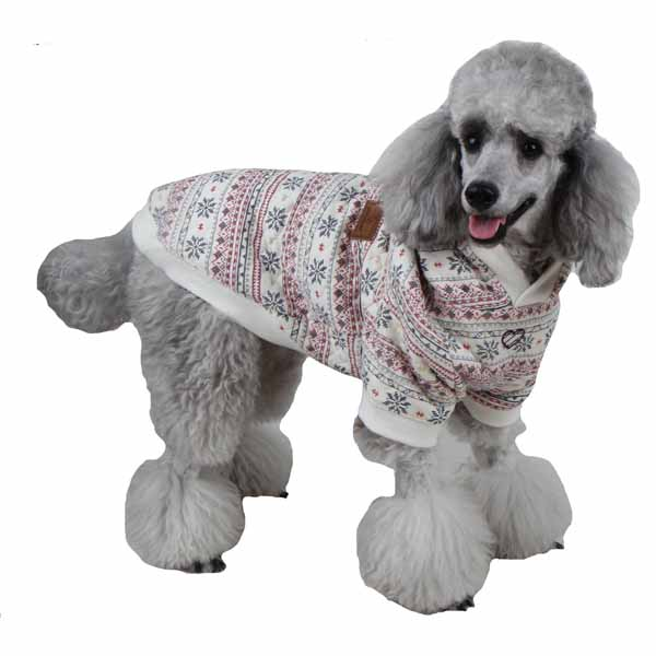Little Snow Dog Hoodie by Pinkaholic - Ivory