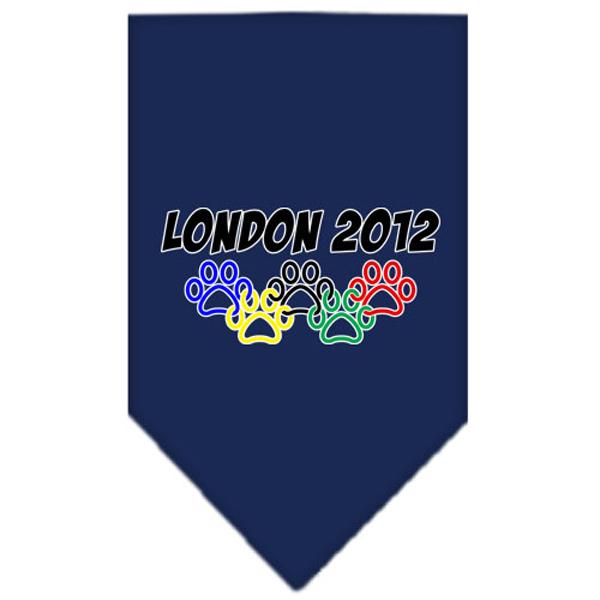London 2012 Paws Dog Bandana - Navy Blue
