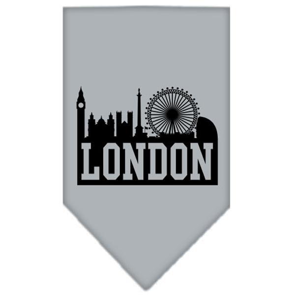 London Skyline Dog Bandana - Gray