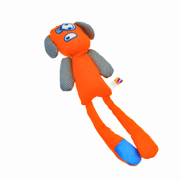 Longshots Ballistic Moondoggie Dog Toy - Orange