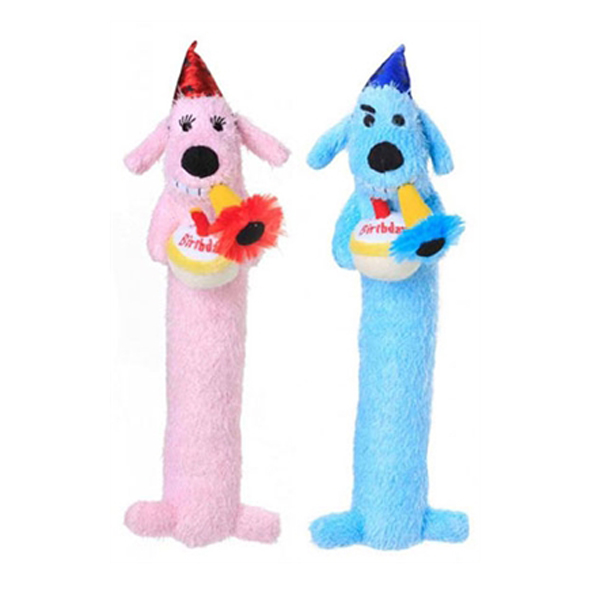 Loofa Birthday Dog Toy