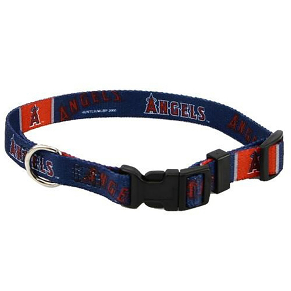 Los Angeles Angels Baseball Printed Dog Collar