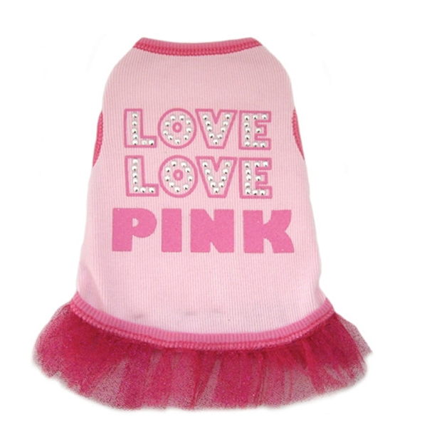 Love Love Pink Dog Tank Dress
