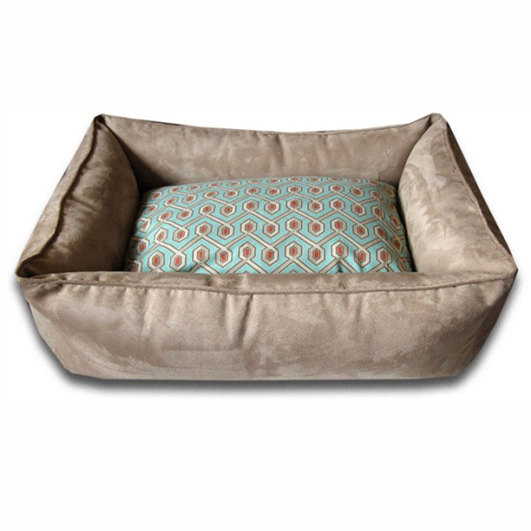 Luca Lounge Dog Bed - Camel/Diamond Back