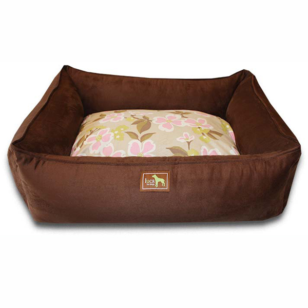 Luca Lounge Dog Bed - Chocolate/Meadow