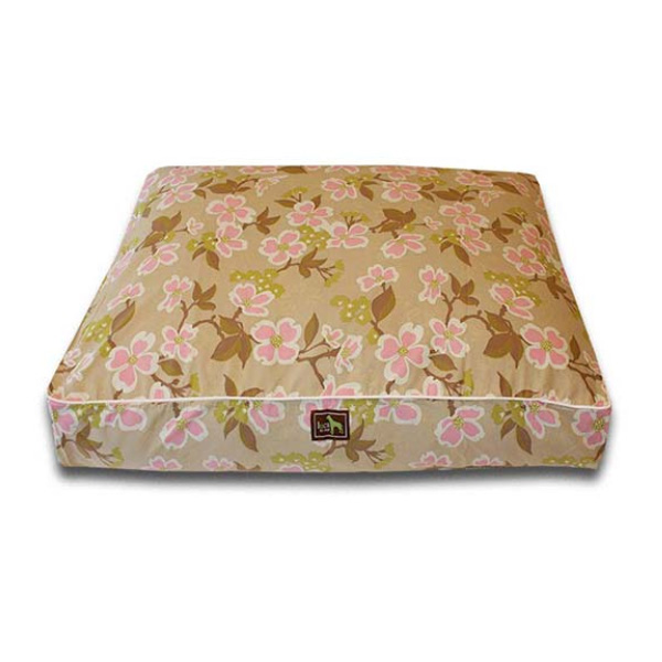 Luca Luxe Rectangle Dog Bed - Meadow