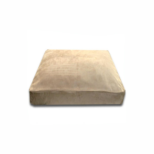 Luca Traditional Rectangle Dog Bed - Camel