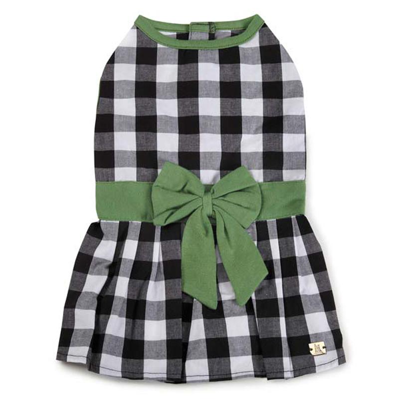 M. Isaac Mizrahi Gingham Bow Dog Dress