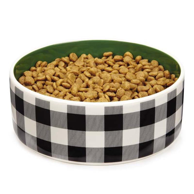 M. Isaac Mizrahi Gingham Dog Dish
