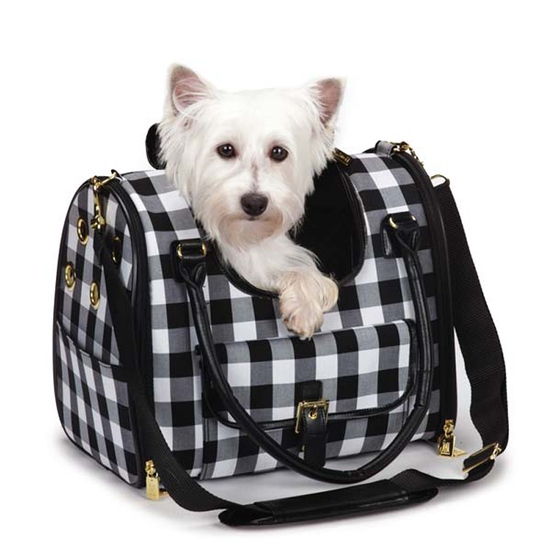 M. Isaac Mizrahi Gingham Dog Carrier