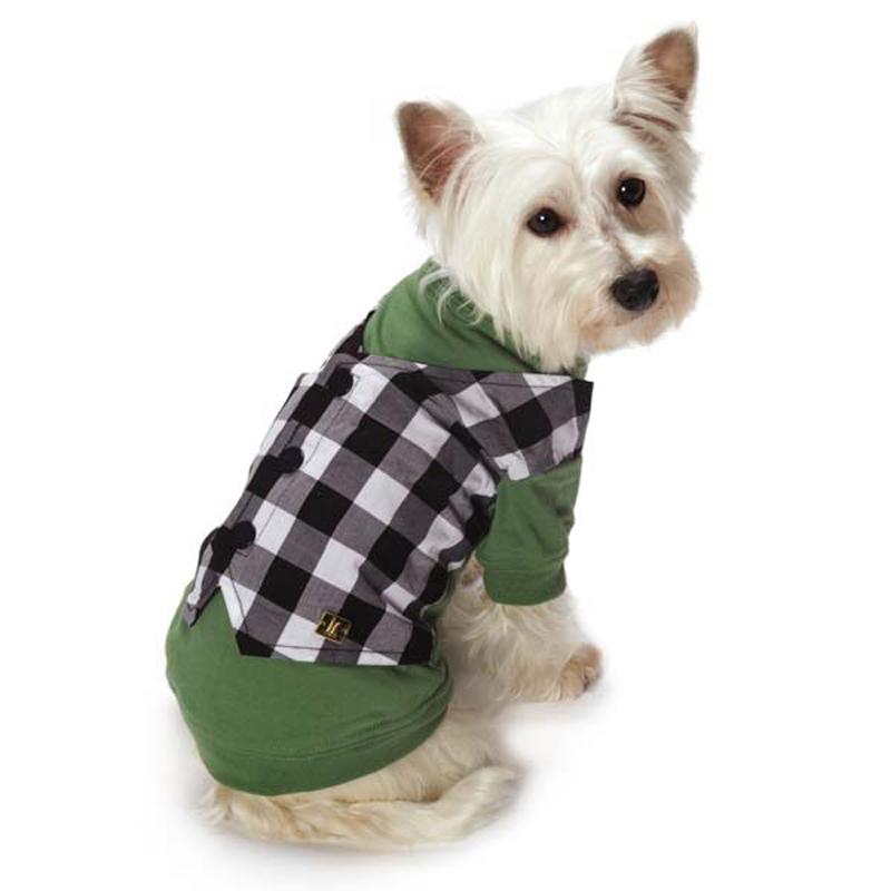 M. Isaac Mizrahi Gingham Mock Dog Vest