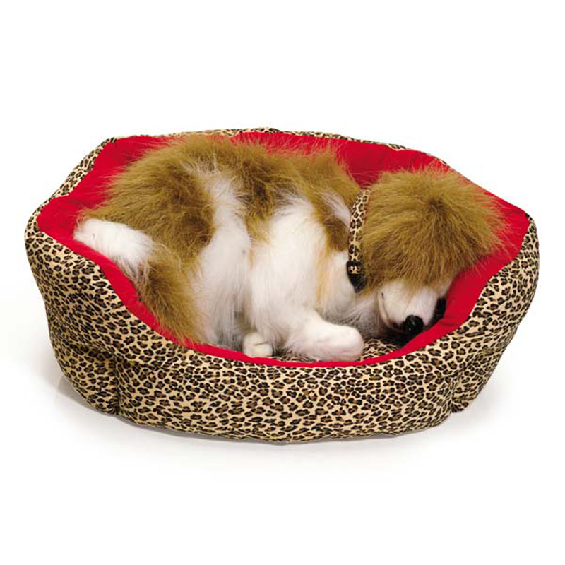 M. Isaac Mizrahi Leopard Nesting Dog Bed - Red