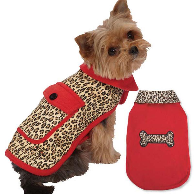M. Isaac Mizrahi Leopard Reversible Dog Coat