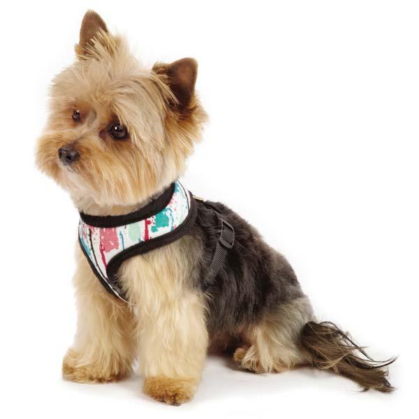 M. Isaac Mizrahi Paint Splatter Dog Harness