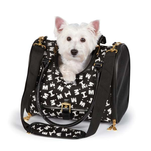 M. Isaac Mizrahi Painterly Logo Pet Carrier