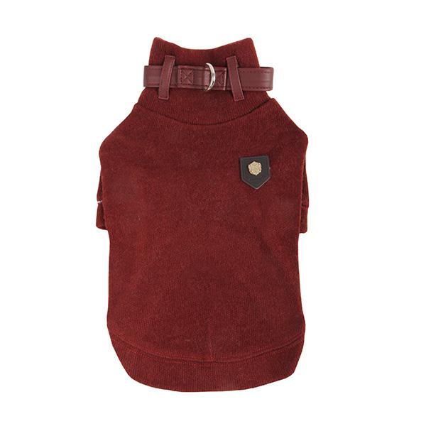 Maddox Dog Sweater by Puppia - Wine