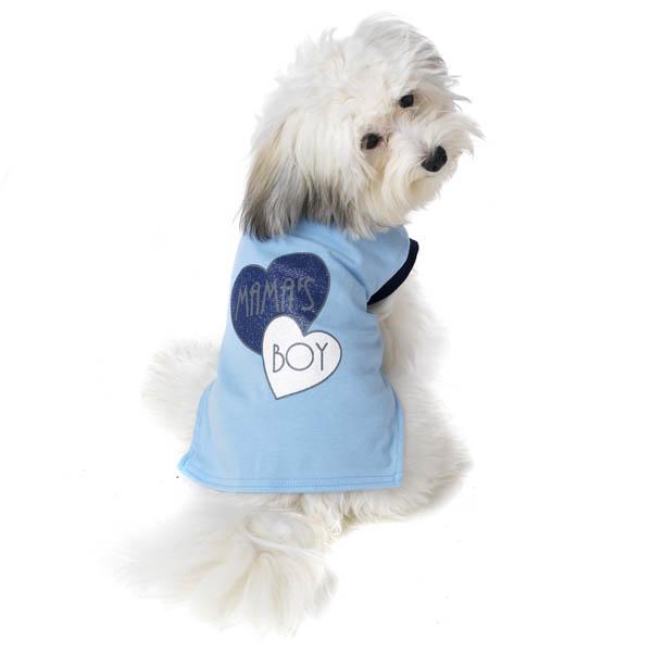 Mama's Boy Dog T-Shirt by PetRageous - Blue