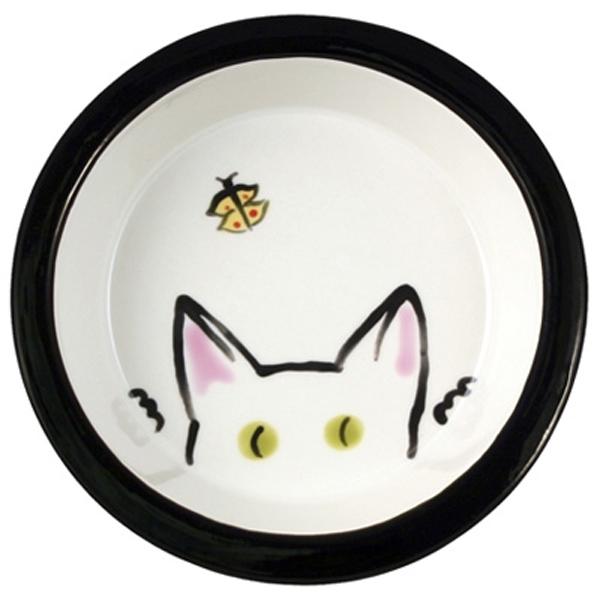 Melia Cat Peek Ceramic Bowl - White