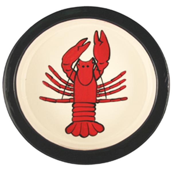 Melia Lobster Ceramic Pet Bowl - Red