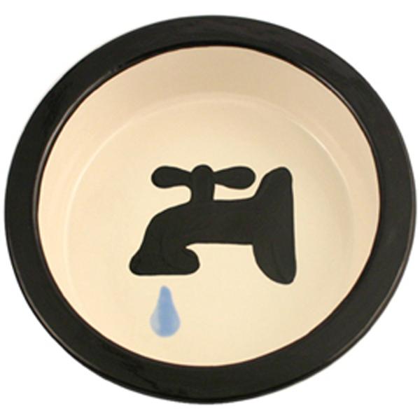 Melia Water Tap Ceramic Pet Bowl - Black