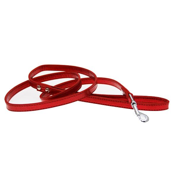 Metallic Dog Leash - Red