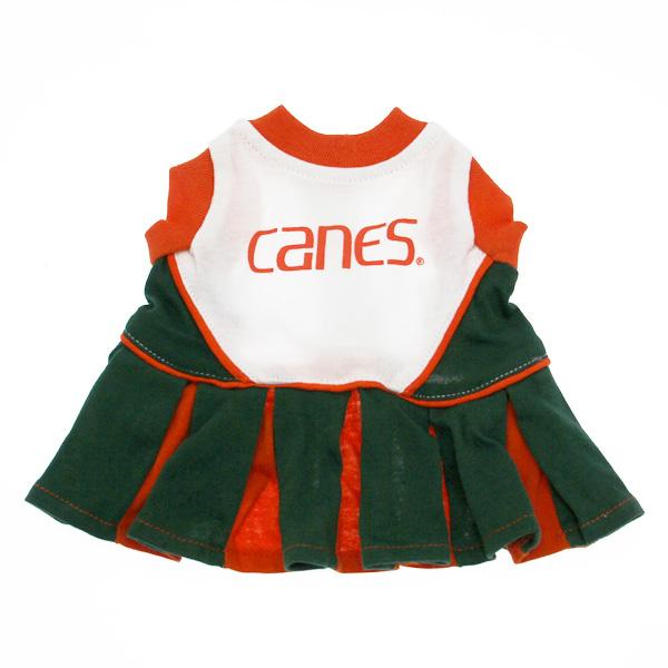 Miami Hurricanes Cheerleader Dog Dress - Canes