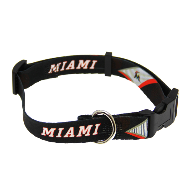 Miami Marlins Baseball Printed Dog Collar