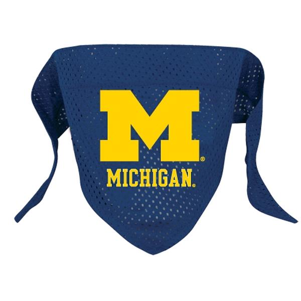 Michigan Wolverines Mesh Dog Bandana
