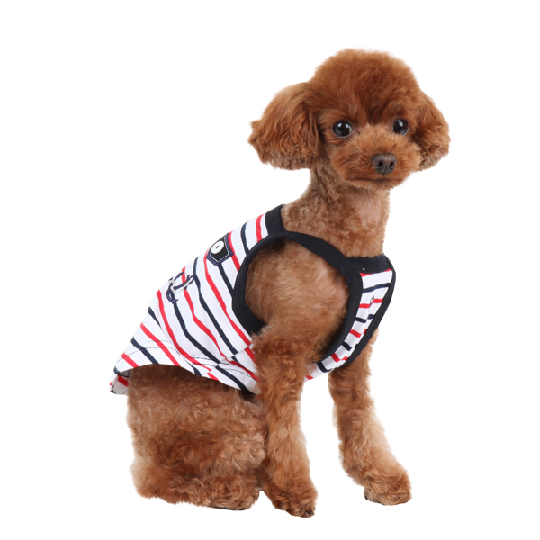 Middy Dog Tank Top by Pinkaholic - Navy
