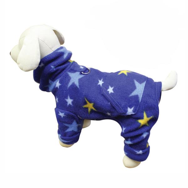 Midnight Stars Turtleneck Fleece Dog Pajamas by Klippo