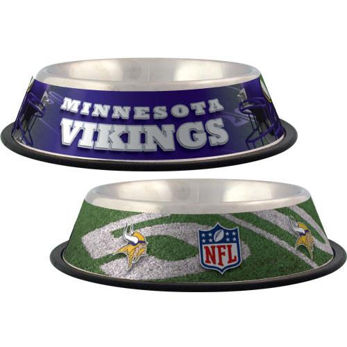 Minnesota Vikings Dog Bowl