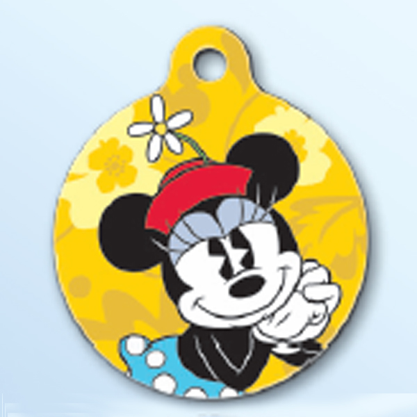 Minnie Mouse QR Code Pet ID Tag