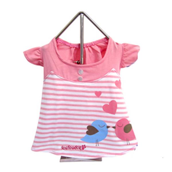 Miss Lovebird Dog Dress - Pink